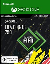 XBOX ONE  FIFA 20 Ultimate Teams 750 POINTS для XBOX ONE   Цифровая версия