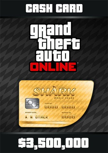 Grand Theft Auto Online Whale Shark Cash Card - 3.500.000$
