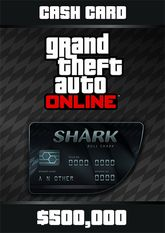 Grand Theft Auto Online  Bull Shark Cash Card - 500.000$