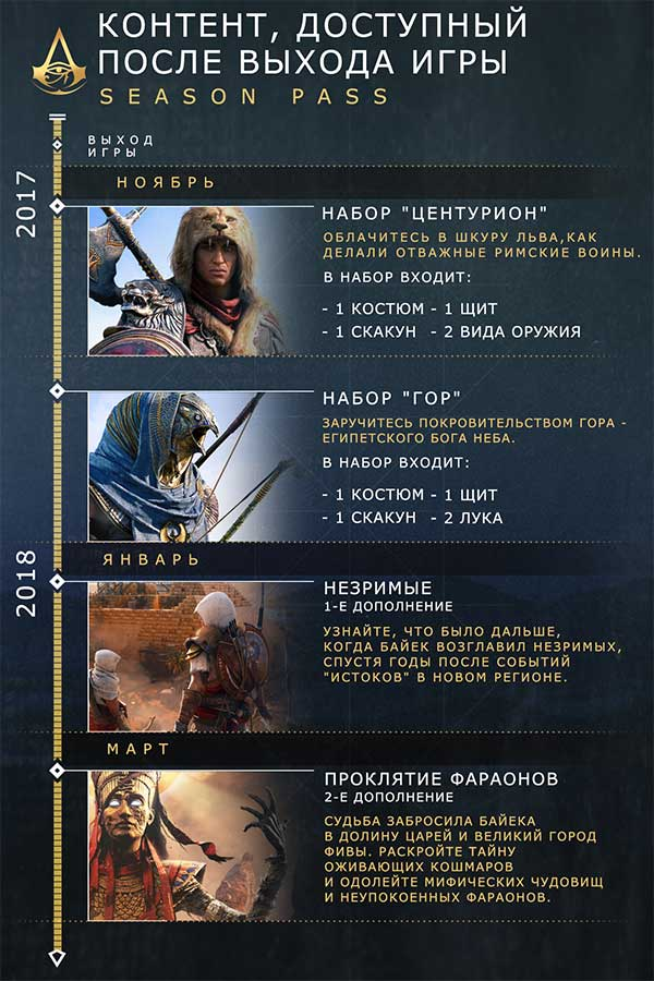XBOX ONE Assassin's Creed Origins Season Pass    Цифровая версия